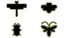Satz von vier Insekten Stockfoto