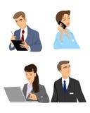 Satz von vier Managern stock abbildung
