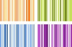 Satz von vier nahtlosen hellen farbenreichen Streifenmustern Vektor I Lizenzfreie Stockbilder