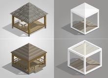 Satz von vier Pavillons stock abbildung