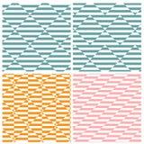 Satz von vier quadratischen Mustern der Illusion stock abbildung
