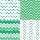 Satz von vier Smaragdgrün-Sparrenmustern und Lizenzfreies Stockfoto