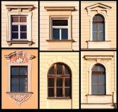 Satz von Windows von Krakau, Polen Lizenzfreie Stockfotografie
