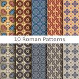 Satz von zehn römischen Mustern Lizenzfreies Stockfoto