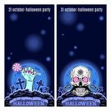 Satz von zwei Halloween-Fahnen Vektor Stockfotografie