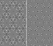 Satz von zwei nahtlosen Mustern Stockbild