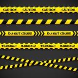 Satz Vorsichtbänder. Vektorillustration. Stockfotografie