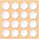 Satz Weißbuch-Blumenrahmen Stockbilder