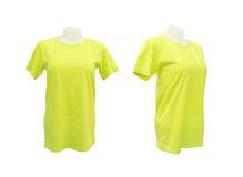 Satz weiblicher T-Shirt Schablone auf dem Mannequin Stockfoto