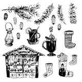 Satz Weihnachten Stockfoto