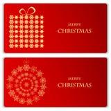Satz Weihnachts- und des neuen Jahresfahnen Lizenzfreie Stockbilder
