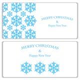 Satz Weihnachts- und des neuen Jahresfahnen Lizenzfreies Stockbild
