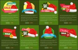 Satz Weihnachts-Verkauf Super-Choise-Anzeigen-Fahnen vektor abbildung