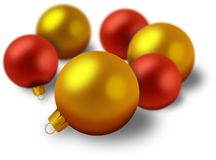 Satz Weihnachtsdekorationen Lizenzfreie Abbildung