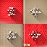 Satz Weihnachtsdesigne Stockfotos