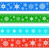 Satz Weihnachtsgrenzen Lizenzfreie Stockfotos