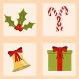 Satz Weihnachtsikonen lizenzfreie abbildung