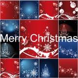 Satz Weihnachtsschablonen-Rahmendesign für lizenzfreie abbildung