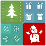Satz Weihnachtssymbole Lizenzfreies Stockbild