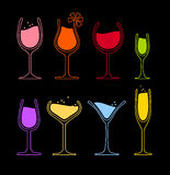 Satz Weinglas Lizenzfreies Stockfoto