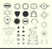 Satz Weinleseelemente für die Herstellung von Logos, von Ausweisen und von Aufklebern Lizenzfreies Stockfoto