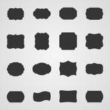 Satz Weinleserahmen, Illustration lizenzfreie abbildung