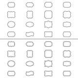 Satz Weinleserahmen, Illustration vektor abbildung