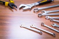 Satz Werkzeuge Stockfotos