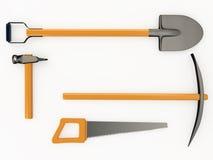 Satz Werkzeuge, 3D Lizenzfreie Stockbilder