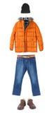 Satz Winterkleidung Lizenzfreie Stockfotos
