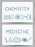 Satz Wissenschafts-Fahnen Lizenzfreies Stockbild