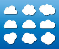 Satz Wolken-der geformten Rahmen-Vektor-Illustration Stockfotos
