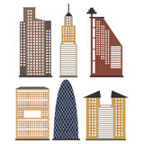 Satz Wolkenkratzer für infographics Lizenzfreie Stockbilder