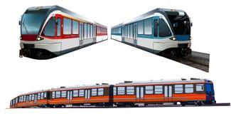Satz Züge Stockbilder
