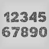 Satz Zahlen von einer bis null Stockfotografie