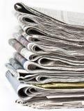 Satz Zeitungen Lizenzfreies Stockbild