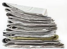 Satz Zeitungen Stockfotos
