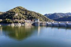 Sau水库细节在巴塞罗那西班牙 免版税库存照片