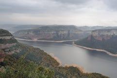Sau dal och Collasacabra platå arkivbild