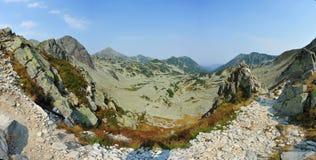 Saua Bucurei, panoramic Retezat mountain landscape Stock Photo