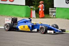 Sauber C34 F1 που οδηγείται από το Marcus Ericsson σε Monza Στοκ φωτογραφίες με δικαίωμα ελεύθερης χρήσης