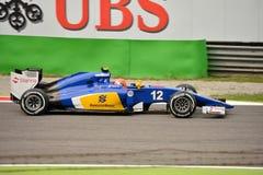 Sauber C34 F1 управляемое Felipe Nasr на Монце Стоковая Фотография