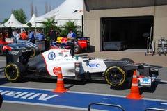 Sauber laufendes Auto in 2012 F1 kanadisches großartiges Prix lizenzfreies stockfoto