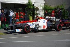 Sauber laufendes Auto in 2012 F1 kanadisches großartiges Prix Lizenzfreie Stockfotografie