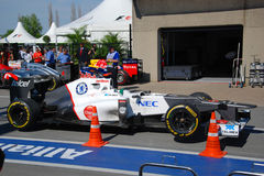 Sauber Racing Car in 2012 F1 Canadian Grand Prix Royalty Free Stock Photo