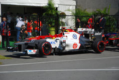 Sauber Racing Car in 2012 F1 Canadian Grand Prix Royalty Free Stock Photography