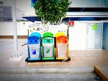 Saubere Stadt des Konzeptes, grüne Welt und verringern Material Lizenzfreies Stockbild