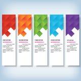 Saubere Zahlfahne des modernen Designs auf dem hölzernen Hintergrund benutzt für Websiteplan Infographic Lizenzfreie Stockfotos