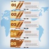 Saubere Zahlfahne des modernen Designs mit dem erfolgreichen Geschäftskonzept verwendet für Websiteplan Infographic Stockbilder