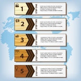 Saubere Zahlfahne des modernen Designs mit dem erfolgreichen Geschäftskonzept verwendet für Websiteplan Infographic Lizenzfreies Stockfoto